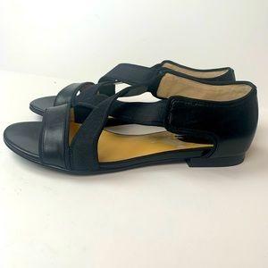 Cole Haan Black Crisscross Strappy Sandals Size 8
